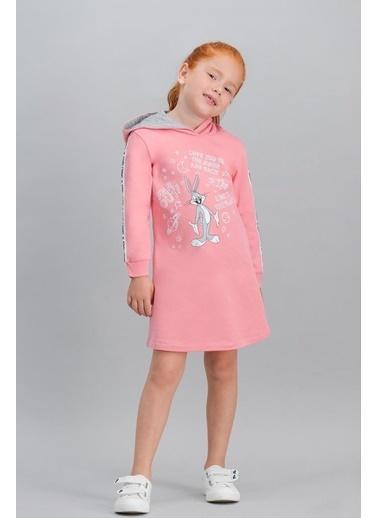 Bugs Bunny Bugs Bunny Lisanslı Grimelanj Kız Çocuk Kapüşonlu Elbise Pembe